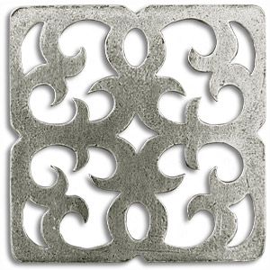 RAVENNA 2x2 Inch Pewter Tile Metal Tile Accent Tiles Decorative