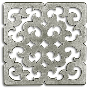 Constantine 3x3 Inch Pewter Tile Metal Accent Tiles