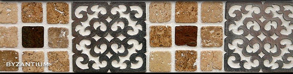Pewter Metal Tiles Byzantium Accent