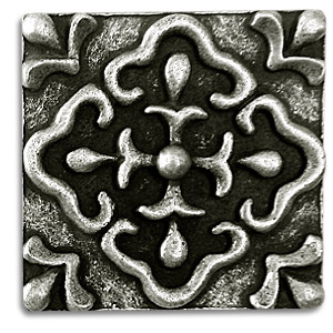 FRESCO X Inch Pewter Tile Metal Tile Accent Tiles Decorative - Decorative 4x4 metal tiles