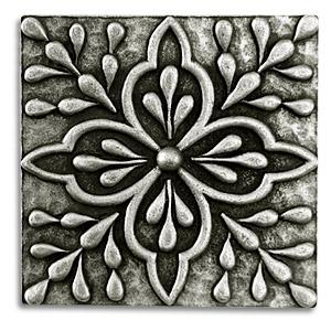 Pewter Tiles Metal Accent Backsplash Insert