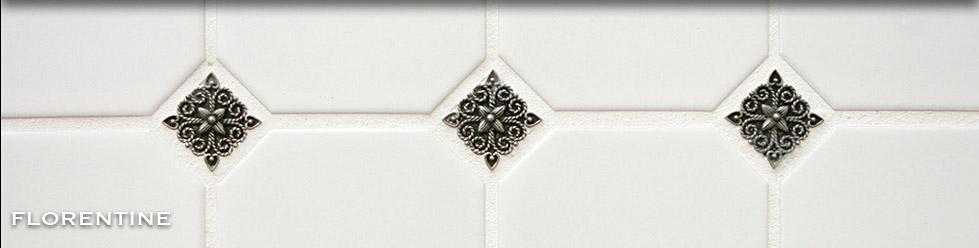 Pewter Tile Inserts Accents