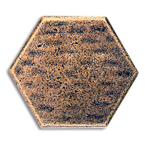 hexagon 1x1 inch pewter tile aged brass metal tile, accent