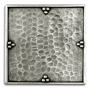 Savanna 2x2 Inch Pewter Tile Metal Tile Accent Tiles