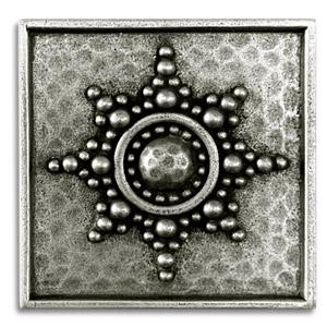 Ashanti 2x2 Inch Pewter Tile Metal Tile Accent Tiles